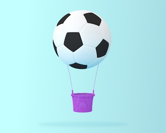 Creative of football big hot air balloon