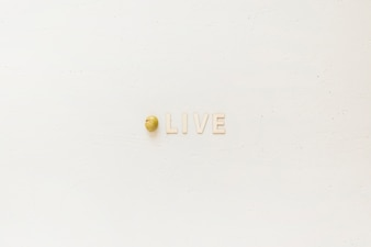 Creative oliveword with olive