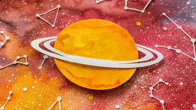 Creative paper planets arrangement