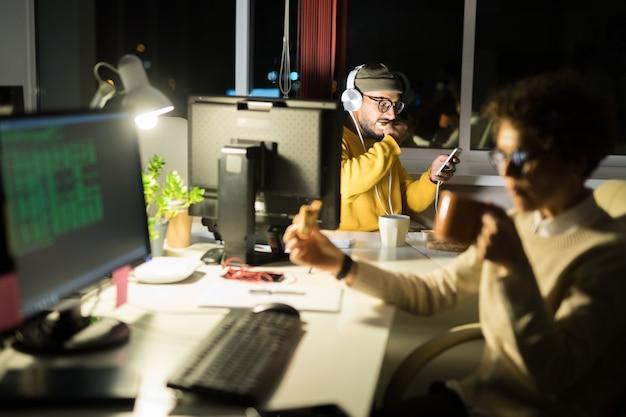 Creative people working in studio