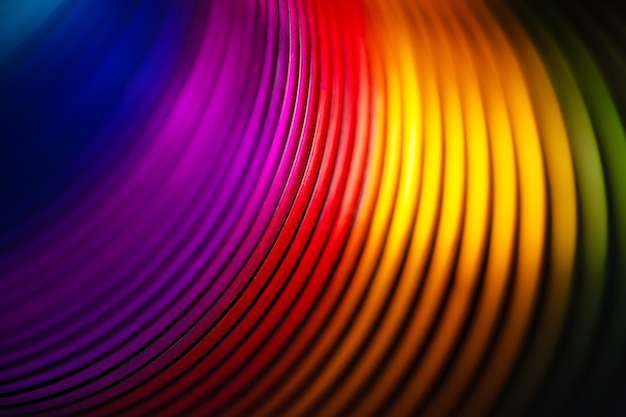 Creative rainbow spiral,  abstract background image