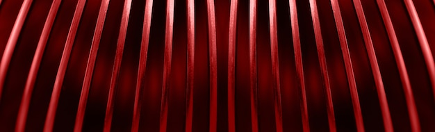 Creative red lines,  abstract background image, panoramic image