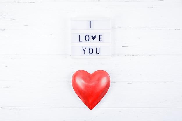 Creative valentine day romantic composition