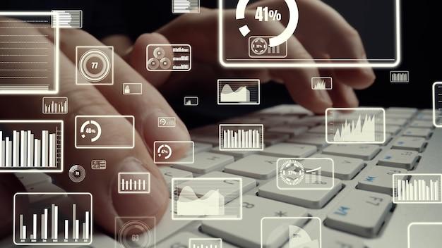 Креативная визуализация бизнес-анализа больших данных и финансов на компьютере
