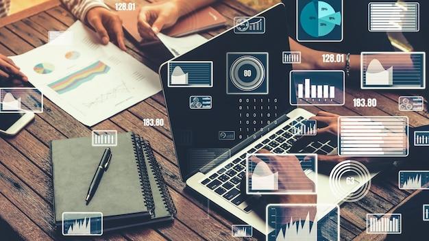 ビジネスデータ分析技術のクリエイティブビジュアル