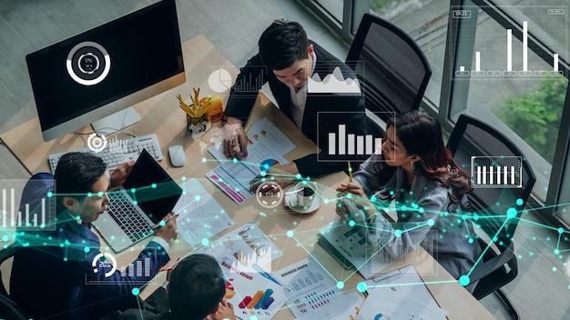 Креативный визуал технологии анализа бизнес-данных