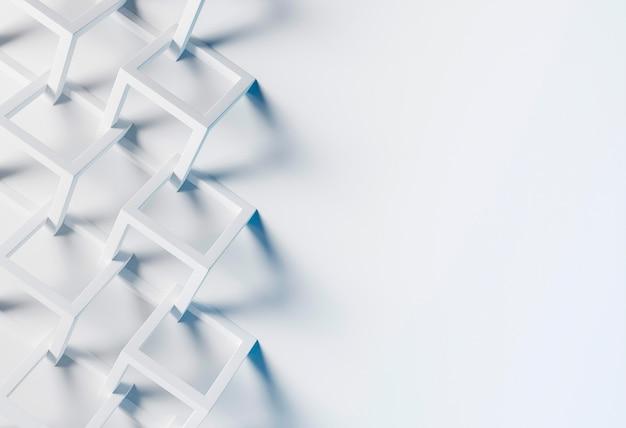 Carta da parati creativa con forme bianche