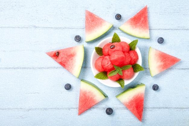 Creative watermelon flat lay