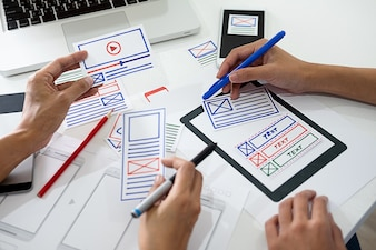 Creative Web Designer planning application and developing template layout framework