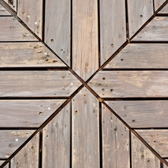 Creative wooden planks desk background