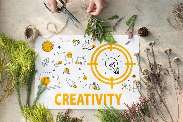 創造性電球技術メッセージアイコンの概念