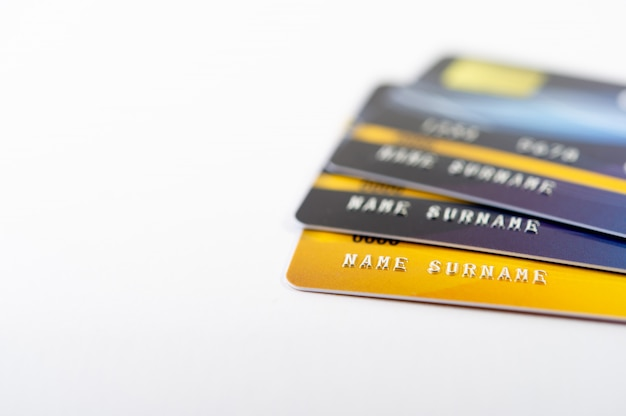 Credit card, cash card cards for doing business online