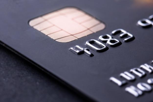 Кредитная карта крупным планом