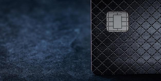 Вид спереди кредитной карты с копией пространства