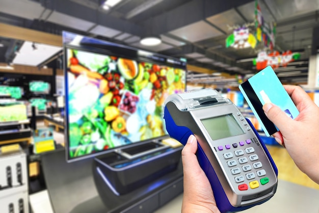 テレビ小売店でのクレジットカード決済