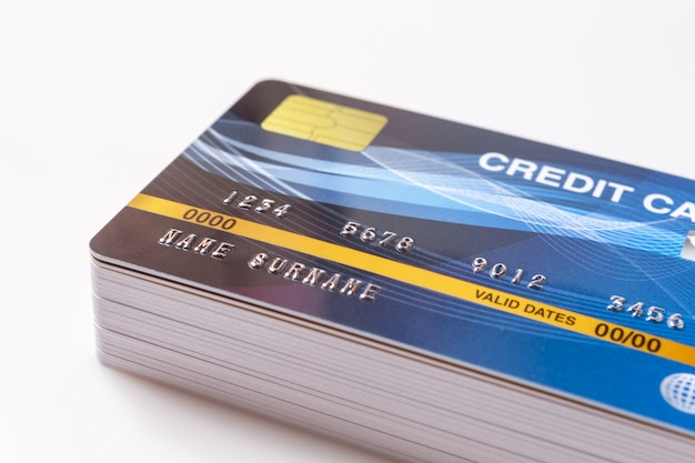 Credit cards pile
