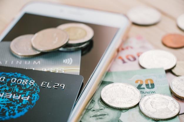 Credit debit card. the electronic money in cashless era.