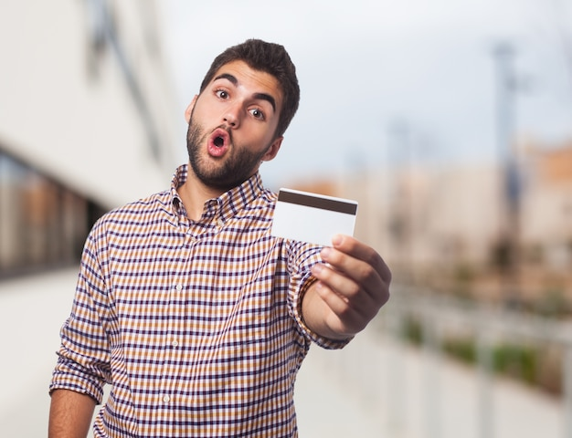 クレジット白陽気なお金の節約