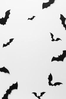 Creepy halloween bats close-up