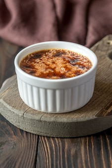Creme brulee in the pot