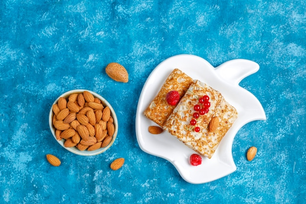 Crepes ripiene di ricotta per colazione.