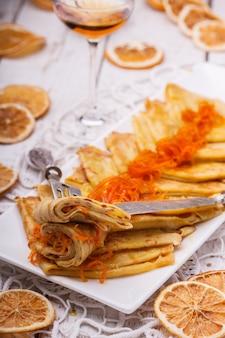 Блинчики сюзетт, французский десерт