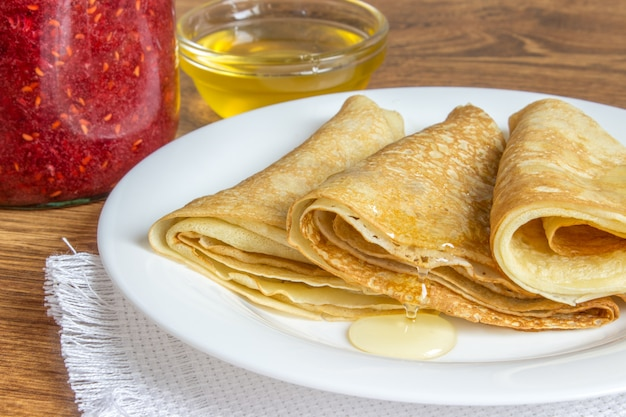 Crepes with various dressings