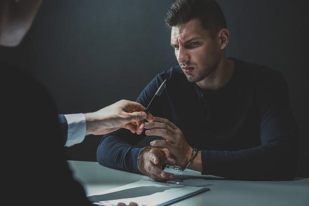 Criminal man refuse to admit crime