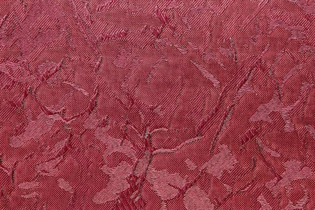 Crimson red fabric blind curtain texture