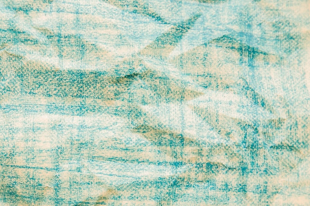 Crinkled blue colored paper texture