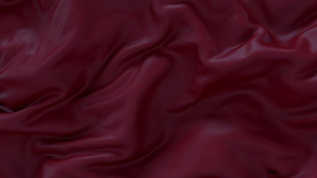Crinkled silk garnet fabric