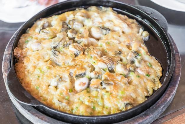 바삭 바삭한 홍합 팬케이크