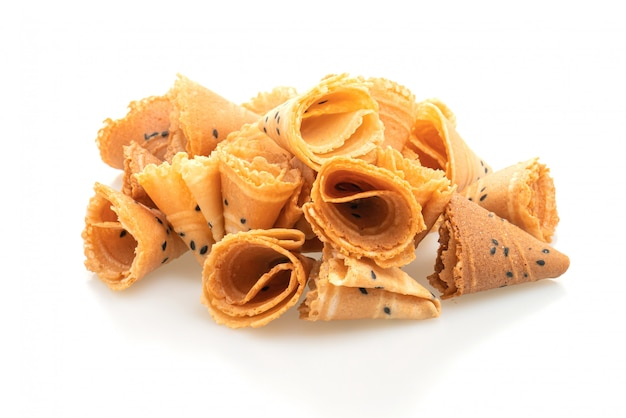Crispy coconut roll - asian snack