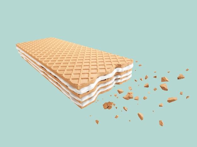 Crispy cracked milk wafer