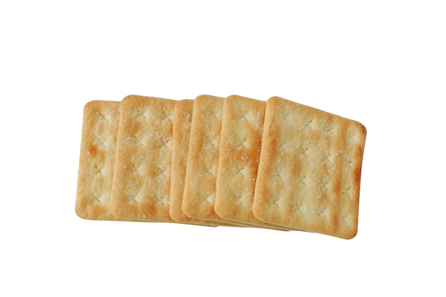 Crispy crackers with sugar isolated on white background