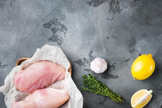 Crispy garlicky chicken raw ingredients