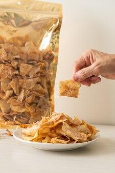 Хрустящие сладкие чипсы таро - здоровая закуска