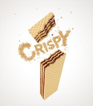 Crispy wafer chocolate flavor