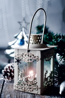 Cristmas lantern with decorations
