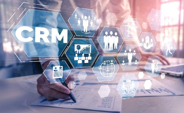 Управление взаимоотношениями с клиентами crm для концепции системы маркетинга продаж бизнеса