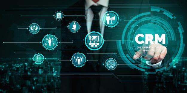 ビジネスセールスマーケティングシステムコンセプトのcrm顧客関係管理