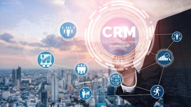 ビジネス販売マーケティングシステムコンセプトのcrm顧客関係管理