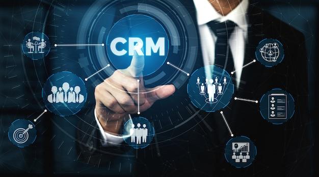 Crm управление взаимоотношениями с клиентами для концепции маркетинговой системы бизнес-продаж