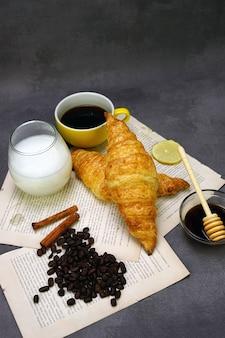 クロワッサンと朝食メニュー