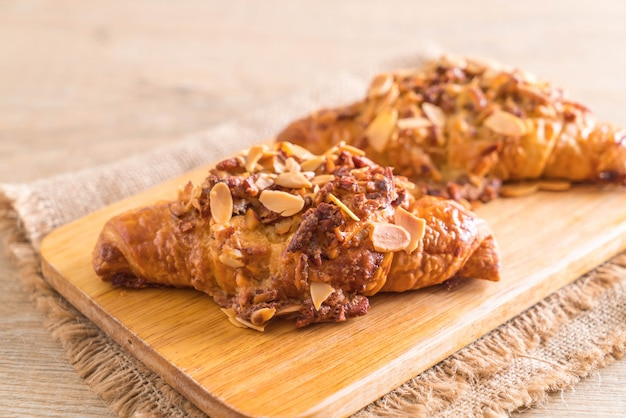 Croissant with almonds