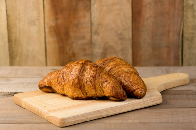 Croissant on the wood