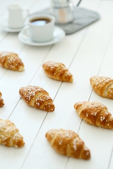 Croissants and a hot drink