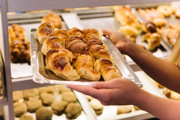 Vassoio di croissant