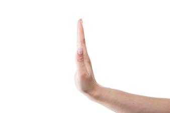 Crop hand gesturing stop