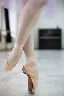 Crop legs of spinning ballerina